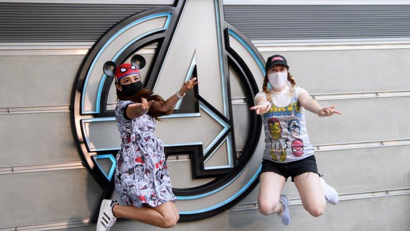 Superhero Recruits Celebrate the Opening of Avengers Campus