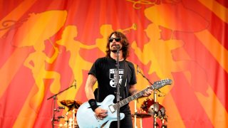 Dave Grohl of Foo Fighters performs onstage
