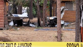 A small plane crashed Tuesday June 22, 2021 just south of Big Bear Airport.
