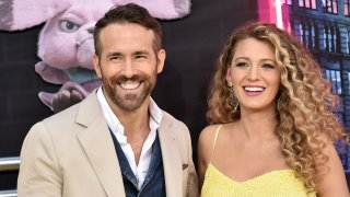 """Ryan Reynolds and Blake Lively attend the premiere of """"Pokemon Detective Pikachu"""" at Military Island in Times Square on May 2, 2019 in New York City."""