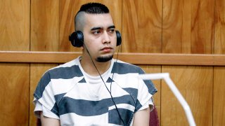 FILE - In this July 15, 2021, file photo, Cristhian Bahena Rivera appears during a hearing at the Poweshiek County Courthouse in Montezuma, Iowa.