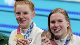Lydia Jacoby and Lilly King