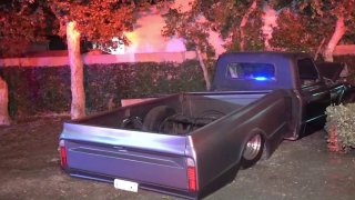 A pickup driver crashed into a crowd of people, injuring two women July 4, 2021 in Anaheim.