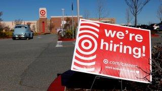 target we're hiring sign