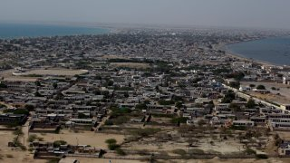 A view of remote town Gwadar, about 700 kilometers (435 miles) west of Karachi, Pakistan, Monday, April 11, 2016. Gwadar Port is a deep-sea port developed jointly by the Pakistan and China at a cost of USD $248 million.