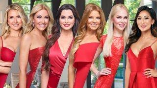 The Real Housewives of Dallas Season 5 pictured (l-r): Kary Brittingham, Stephanie Hollman, D'Andra Simmons, Brandi Redmond, Kameron Westcott, Tiffany Moon.