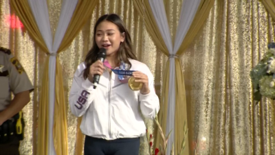 Sunisa Lee Welcomed Home From Tokyo With Hometown Parade