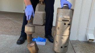 Recovered Pleasanton Catalytic Converters