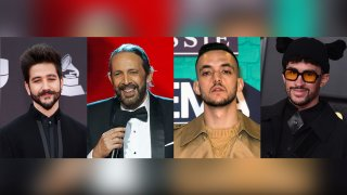 Colombian singer-songwriter Camilo, Dominican maestro Juan Luis Guerra, Spanish rapper C. Tangana and Puerto Rican rapper Bad Bunny,