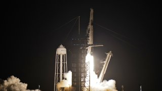 A SpaceX Falcon 9, with four private citizens onboard, lifts off from Kennedy Space Center's Launch Pad 39-A Wednesday, Sept. 15, 2021, in Cape Canaveral , Fla.