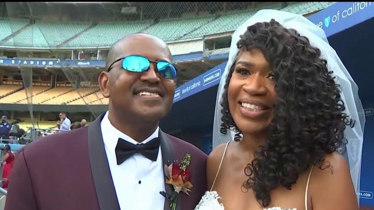 SoCal Couple Holds Wedding at Dodger Stadium