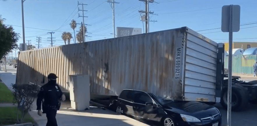 Port Backup Causing Shipping Container Pileup in Nearby Neighborhoods