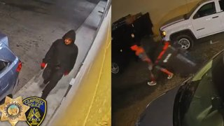 Two people wanted for a burglary and theft in Campbell.