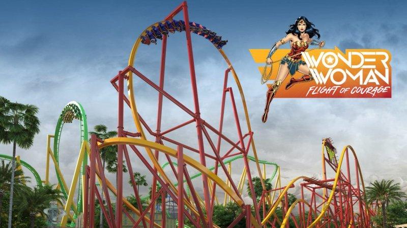 A Wonder Woman Coaster Flies for Six Flags Magic Mountain