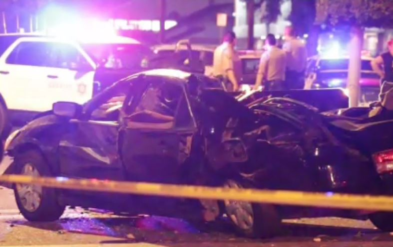 A driver was killed after striking a tree and landing on top of another car in a late-night Paramount crash July 23, 2017.