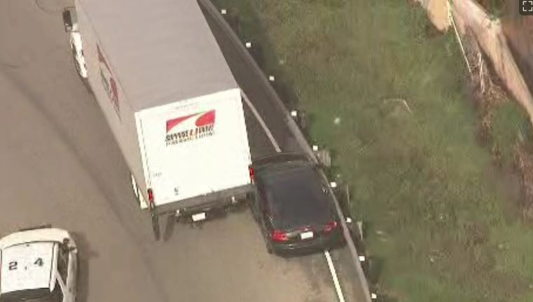 Truck Puts the Squeeze on High-Speed Pursuit Driver