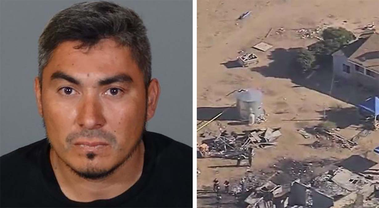 Jesus Guzman, 34, is sought in connection with the discovery of human remains on a high desert property north of Los Angeles and a double murder from Feb. 20, 2018.