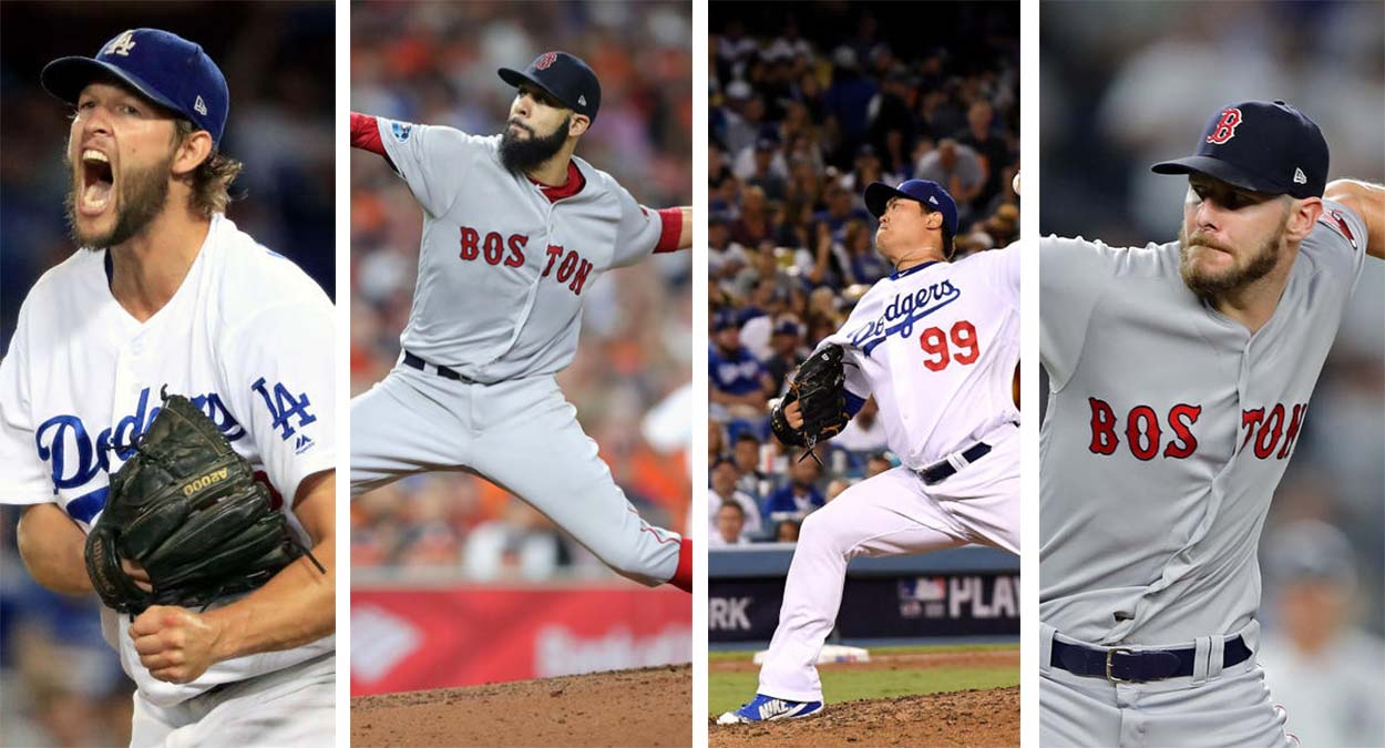 A look at the projected starting rotations for the Dodgers and Red Sox.