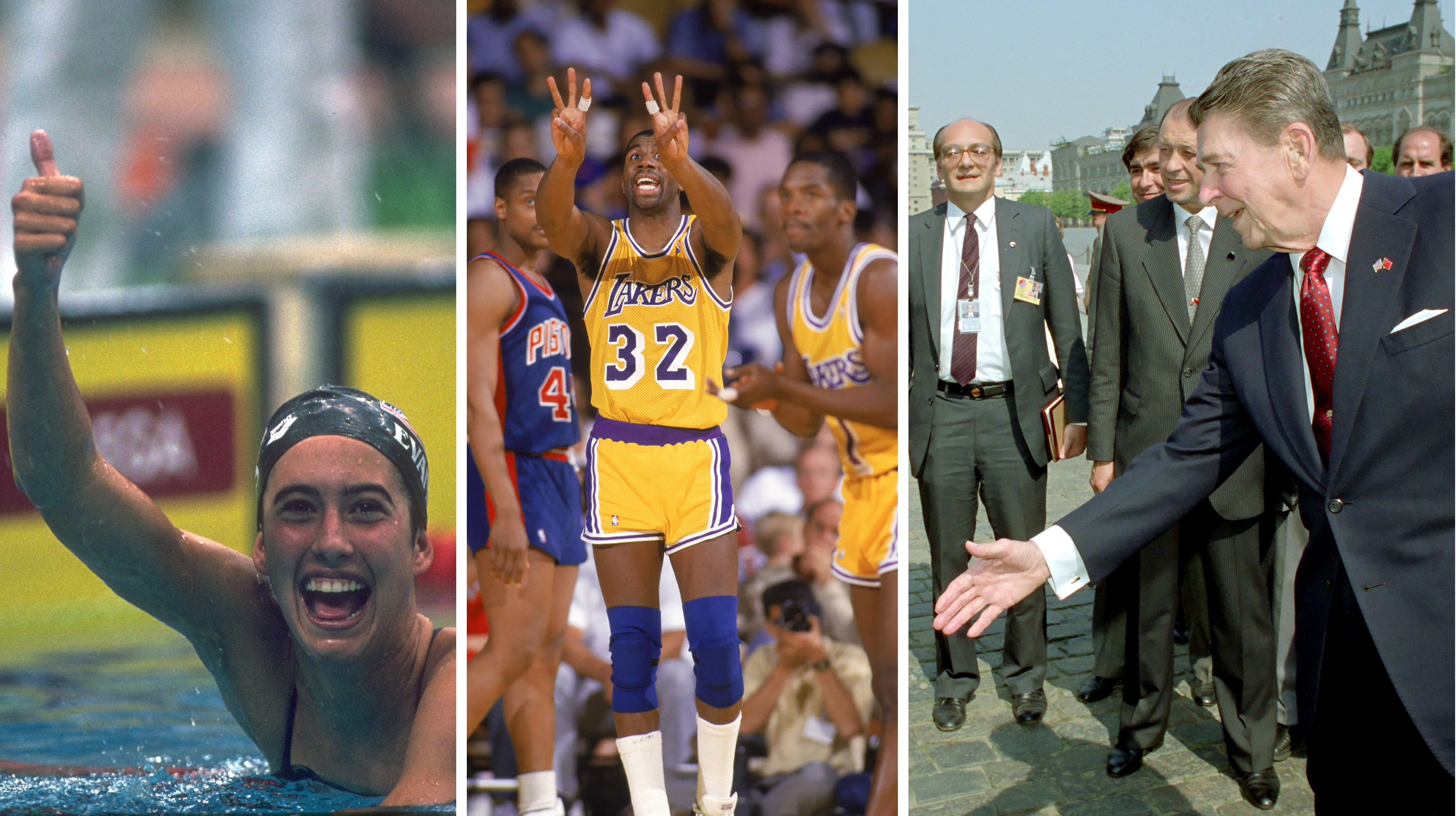Swimmer Janet Evans captured three gold medals, Magic Johnson and the Lakers won another NBA title and President Reagan toured Red Square in Moscow, just few of the major events that happened in 1988 -- the last time the Dodgers were in the World Series.