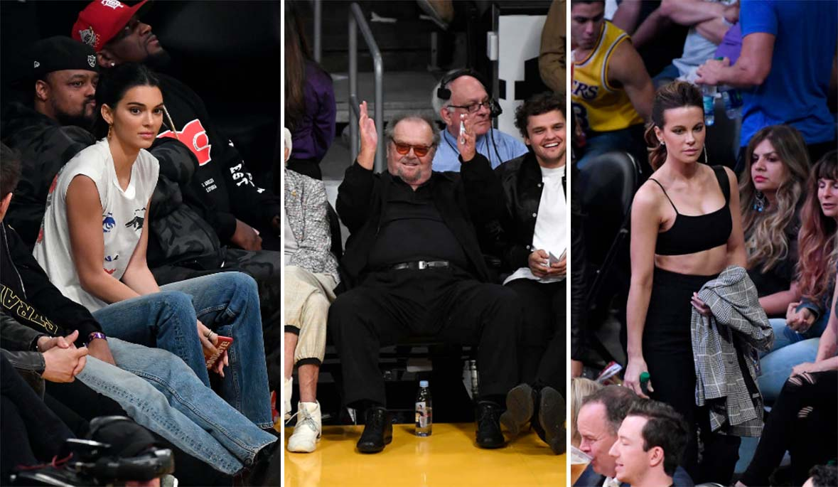The Lakers draw celebrity fans to the seats at Staples Center.