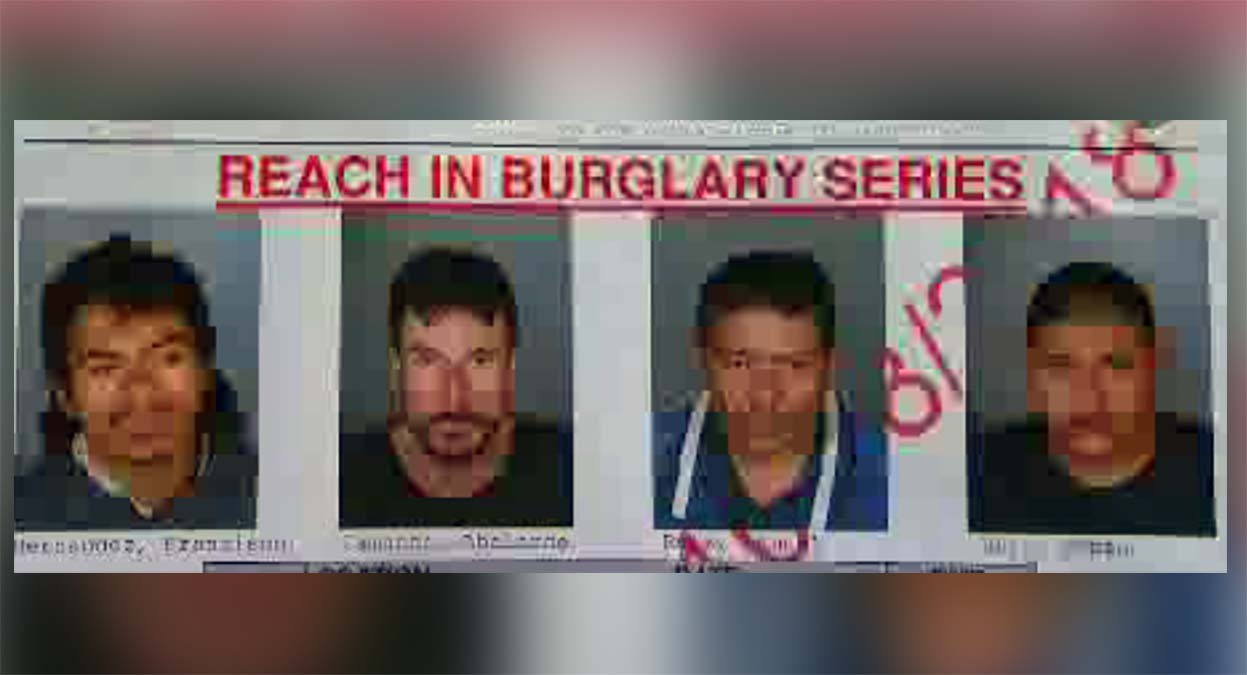 Four suspects were arrested in a series of burglaries in communities around downtown Los Angeles.