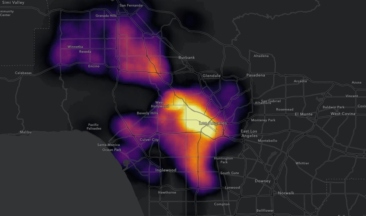 A look at where car break-ins are most common in Los Angeles.