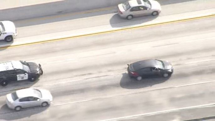 A man was arrested after a short chase ended in Brea on Thursday, Nov. 1, 2018.