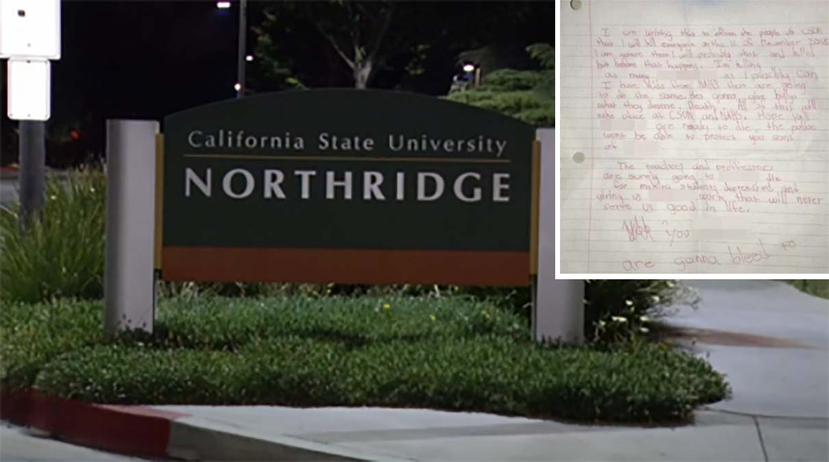 NBC4 obtained a photo of a letter that was found at the CSUN campus.