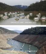 Before and After: Oroville Lake