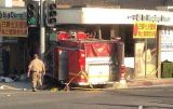 Fire Truck Crashes Into Dumpling Restaurant