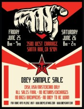 Obey Summer Sample Sale