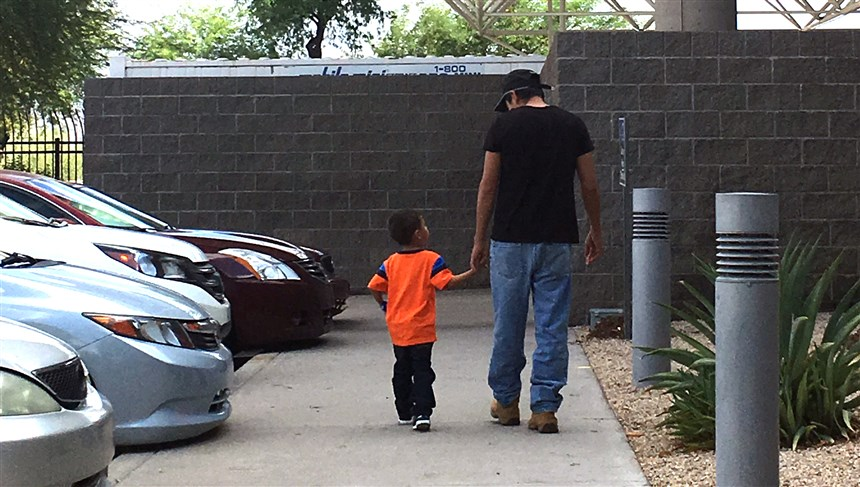 Jose and his 3-year-old son, Jose Jr., were separated after entering the country and seeking asylum in mid-May. They were reunited on July 10 in Phoenix.