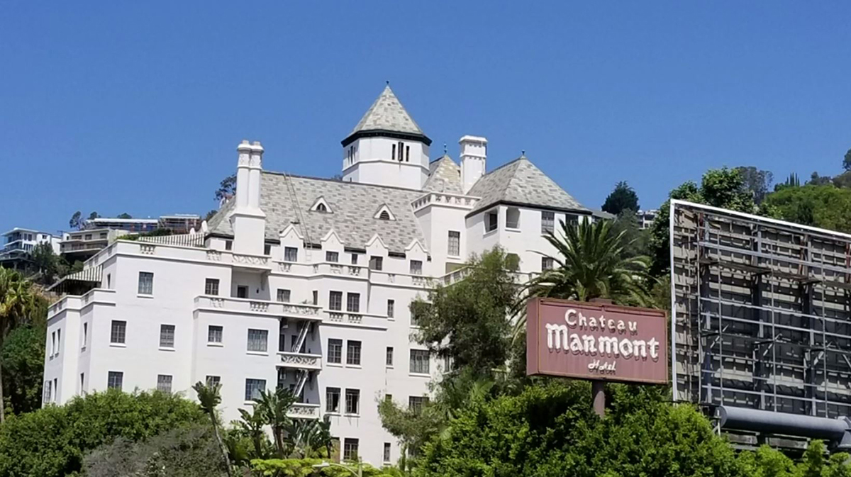 The Chateau Marmont on Sunset Boulevard in Los Angeles is an example of French Normandy Revival Architecture in Los Angeles.