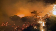 Brush Fire Burns in Malibu