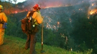 Firefighters Attack Malibu Brush Fire