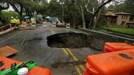 Sinkhole in the Street