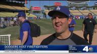 Dodgers Host Firefighters