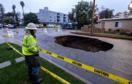 Sinkhole in Studio City