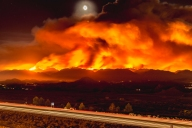 Sand Fire at Night