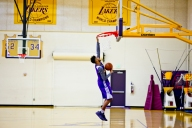 D'Angelo Russell Shows Off Hang Time
