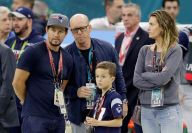 Patriots Fan Mark Wahlberg at Super Bowl LI