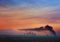 Smoke Over Downtown Los Angeles