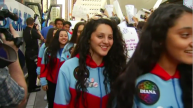 Youth Orchestra Welcomed Home After Super Bowl