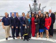 NBC4 and Telemundo 52 Unveil News Camera on Battleship IOWA in San Pedro