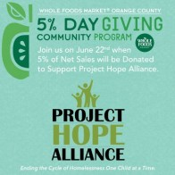 Project Hope Alliance Collecting Donations at Whole Foods Market in OC to Benefit Homeless Kids