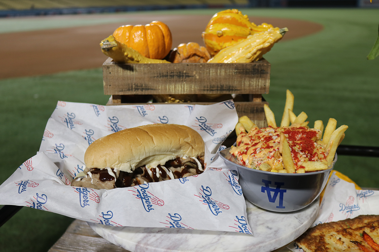 A look at some of the special food items available during the 2018 World Series at Dodger Stadium.