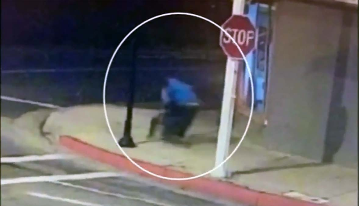 Caught on Camera: Attacker Tackles Woman From Behind Outside Restaurant
