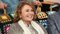 """This March 26, 2018, file photo shows Roseanne Barr as a guest on """"Good Morning America."""""""