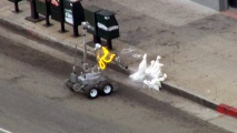 bomb squad robot detonation 1 East LA Bank Robbery Suspect Arrested