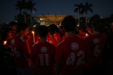 Sandy Hook to Parkland: 17 Angels Stand Again for Shooting Vigil